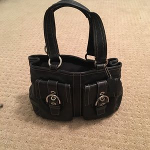 Coach Shoulder Purse with Silver Hardware
